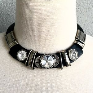 Vintage Gothic Leather Choker Necklace